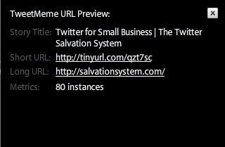 Shortened URL Preview on TweetDeck